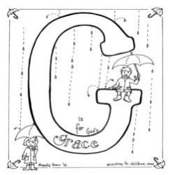 Coloring Page-G-Grace