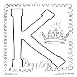 Coloring Page-K-King