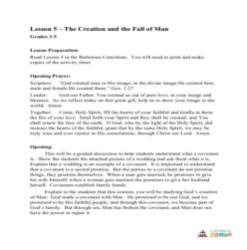 The Creation and the Fall of Man - Lesson Plan - Grades 3-5