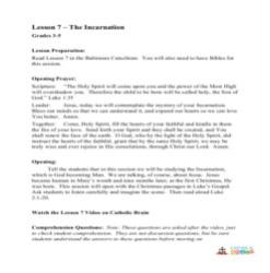 The Incarnation - Lesson Plan - Grades 3-5